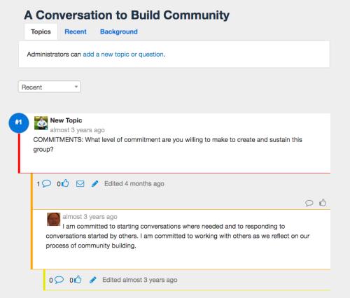 example threaded conversation on Qiqo